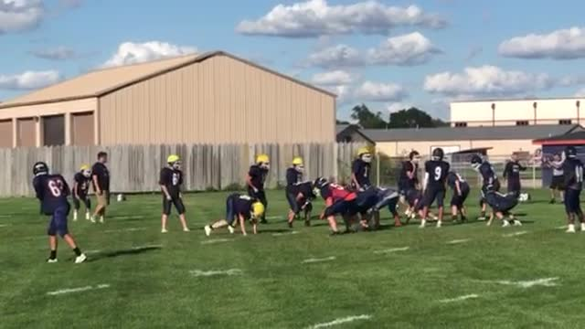 Oswego High School football teams played a scrimmage game on the school's practice field during the annual Panther Fest celebration Friday evening.