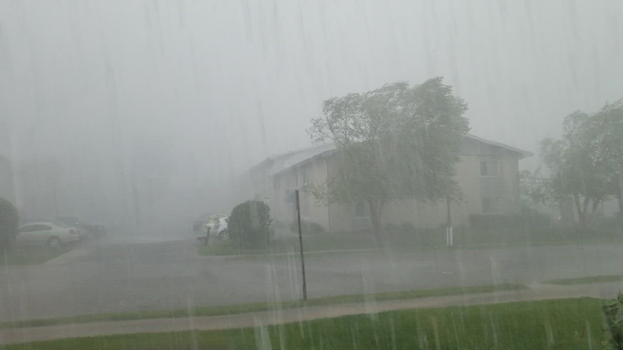 Heavy rains on Saturday afternoon quickly flooded some areas of Joliet's west side.