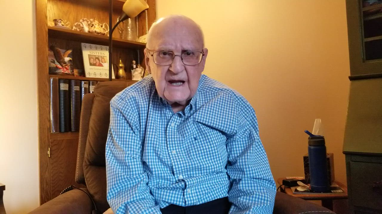 Lyle Wiggins, a former Herald-News employee, discusses one of his jobs during World War II.