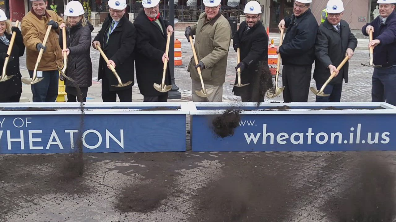 The revitalization of downtown Wheaton continues as officials on April 6 broke ground for a multimillion streetscape project that will create a new look for Front Street, including wider sidewalks, along with new street lamps, benches, trees and planters and a relocated Martin Memorial Plaza.
