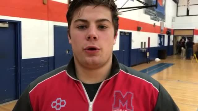 Gustafson talks about his pivotal win and the Hurricanes reaching the 2A Dual Team Wrestling State Tournament.