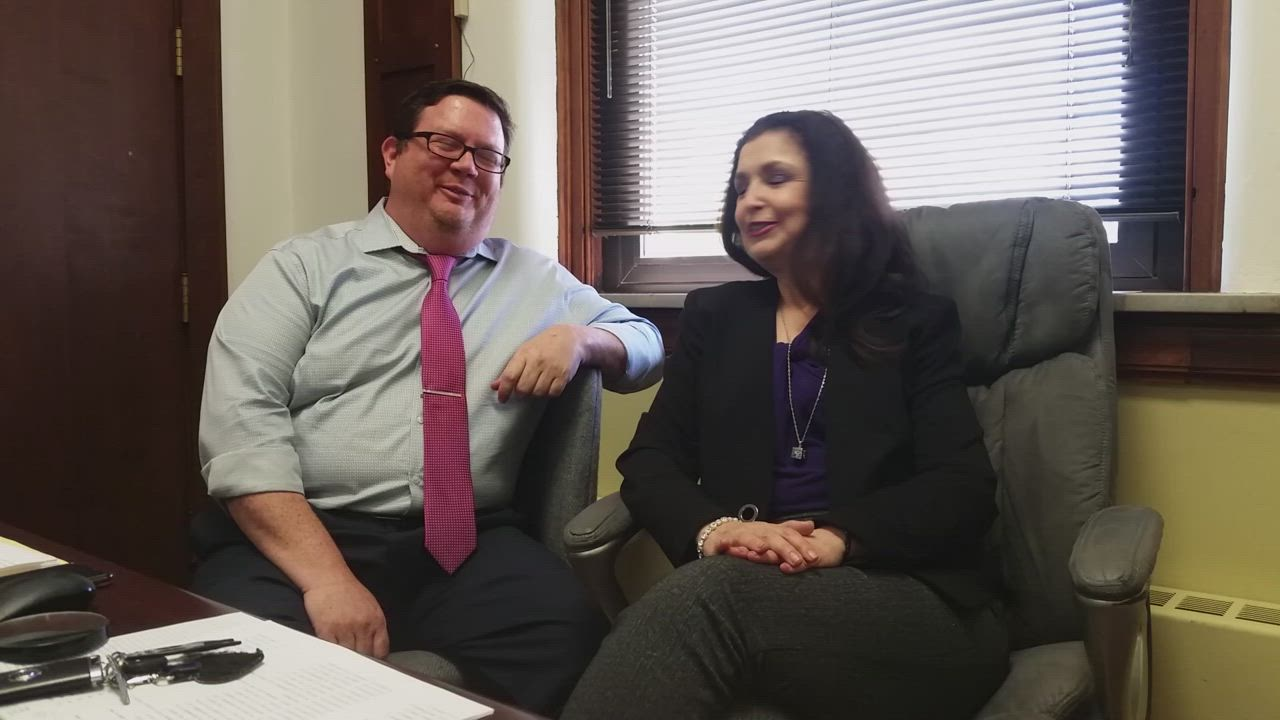 Grace Rodriguez and her close friend and senior probation officer, Adam Christansen, talk about keeping things light at the courthouse.