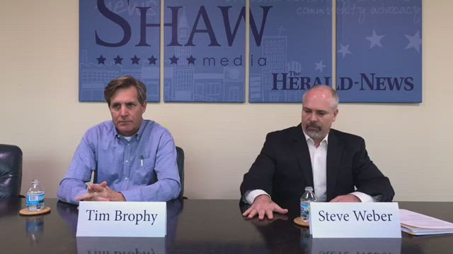 We hosted a live debate between Republican Will County Treasurer Steve Weber and his Democratic opponent Tim Brophy.