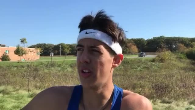 Swanson talks about winning the FVC XC title.