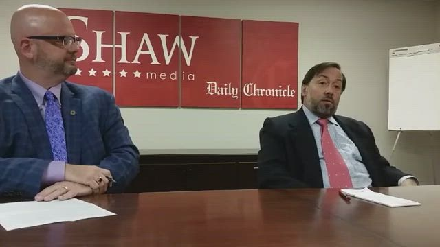 Jeff Keicher and Paul Stoddard meet with the Daily Chronicle Editorial Board to discuss the race in District 70.