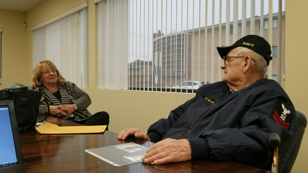 World War II veteran Edward Matesevic doesn't like war, but he does like to help people. But he had an additional reason for his naval service.