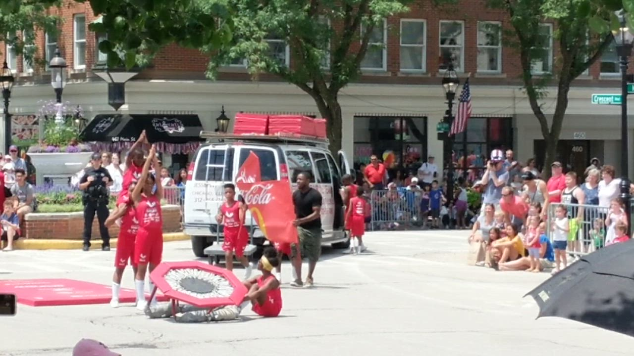 The Jesse White Tumblers captivated parade-goers during the Glen Ellyn Fourth of July parade.