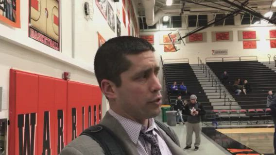 Benson talks about the Red Raiders' double-OT loss to Cary-Grove.
