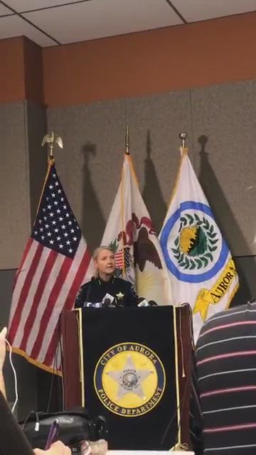 Aurora Chief of Police Kristin Ziman gives an update on the shooting at the Henry Pratt plant in Aurora