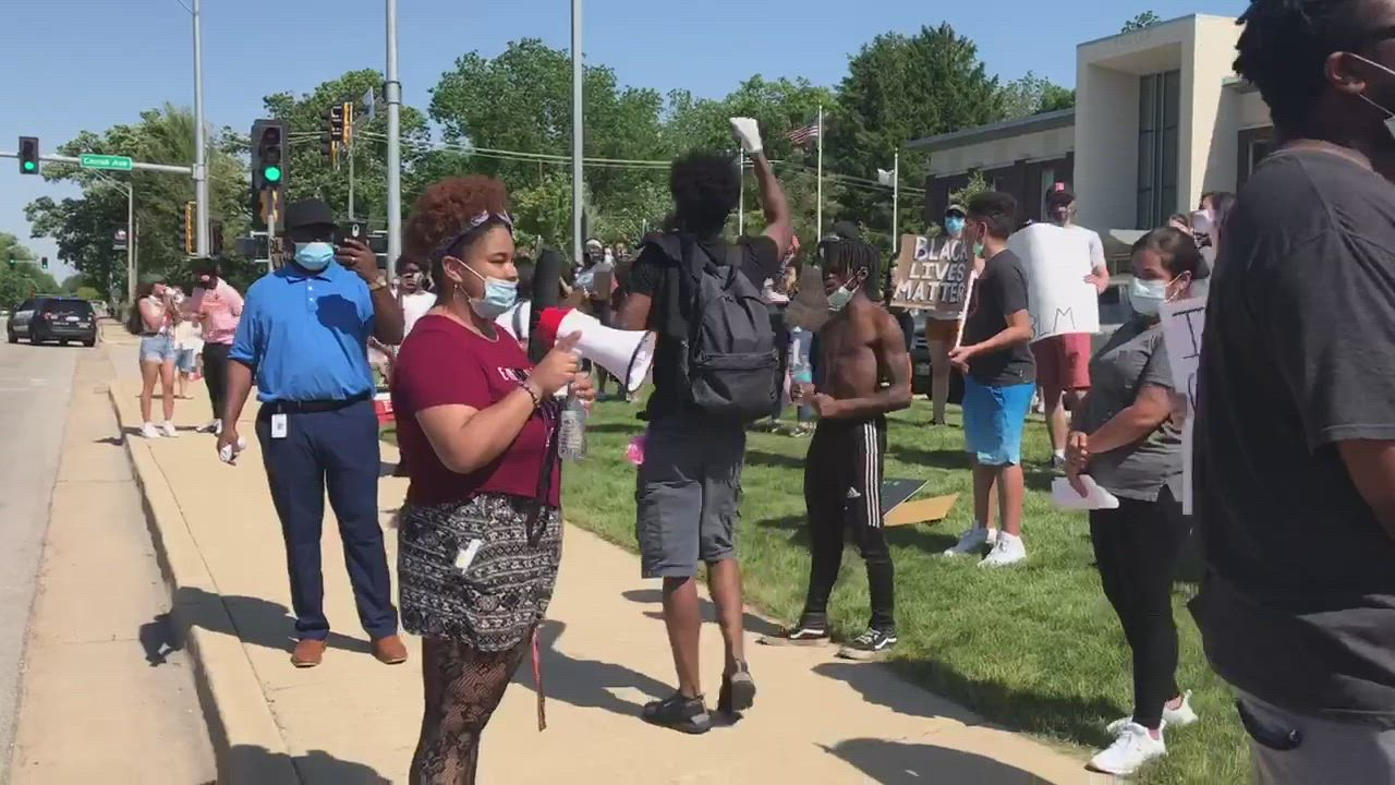 Protesters were out for a fourth straight day in DeKalb, protesting police brutality and the death of George Floyd