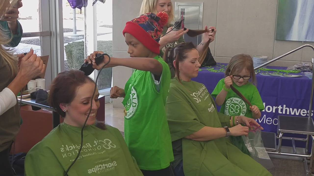 Jaysen Cook-Bey, of Glen Ellyn, was the honorary barber at the Northwestern Medicine Chicago Proton Center's St. Baldrick's Shave Event on March 23. The St. Baldrick's Foundation, a volunteer-driven charity that funds research to find cures for childhood cancers.