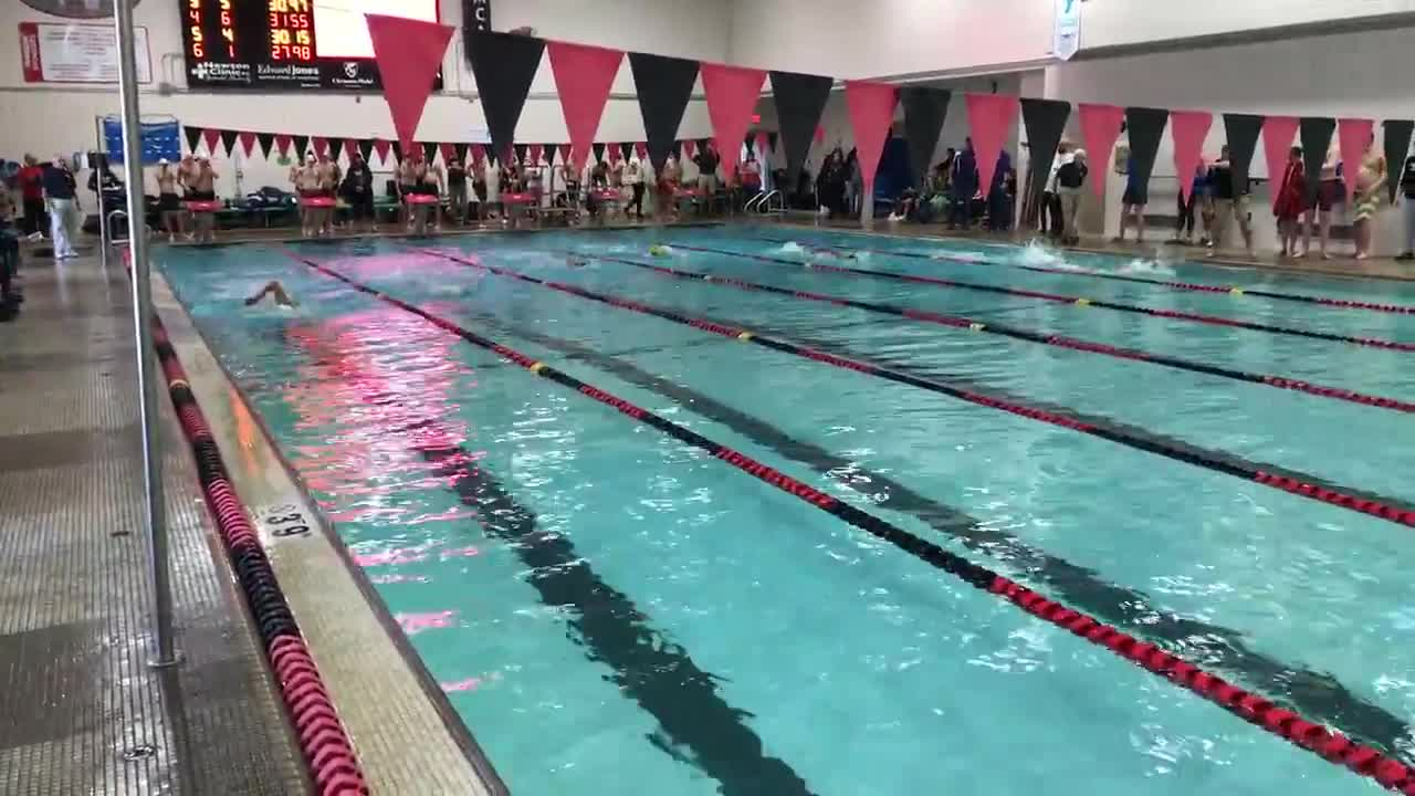 Home swim invitational at the Newton YMCA on December 2.
