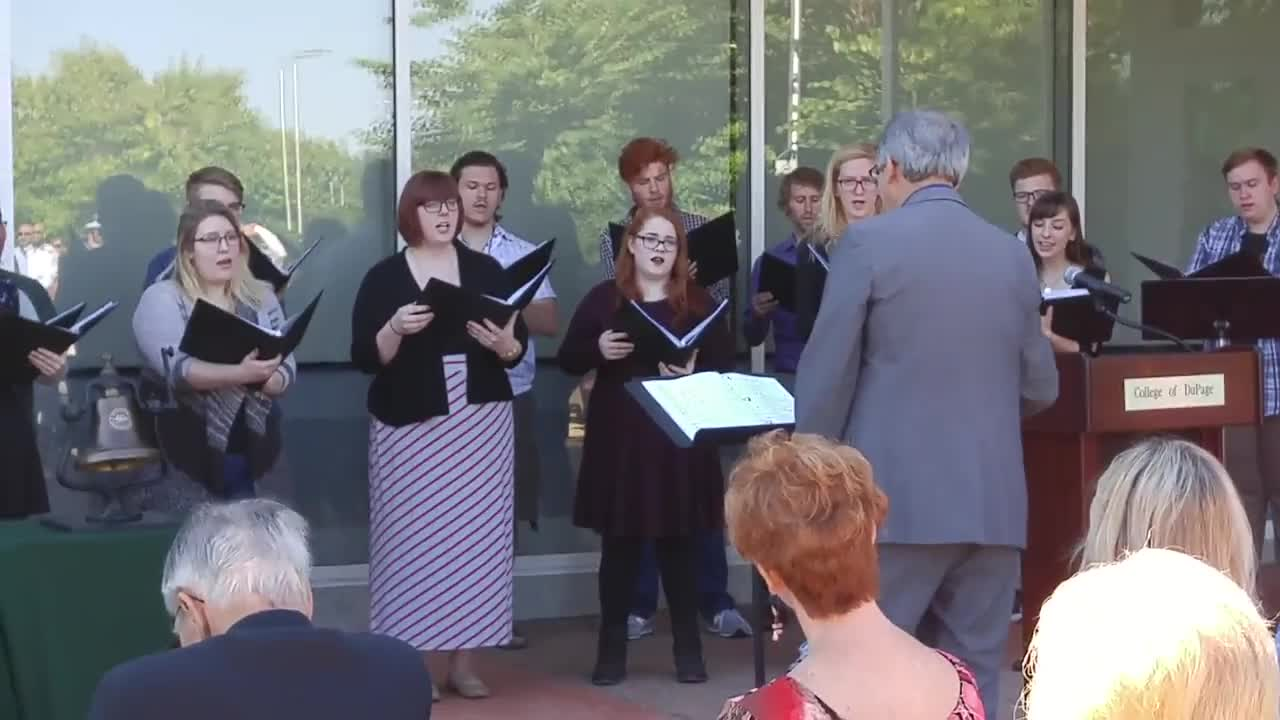 The COD Chamber Singers perform Sept. 28 during the College of DuPage's Founders' Day celebration at the Glen Ellyn campus.