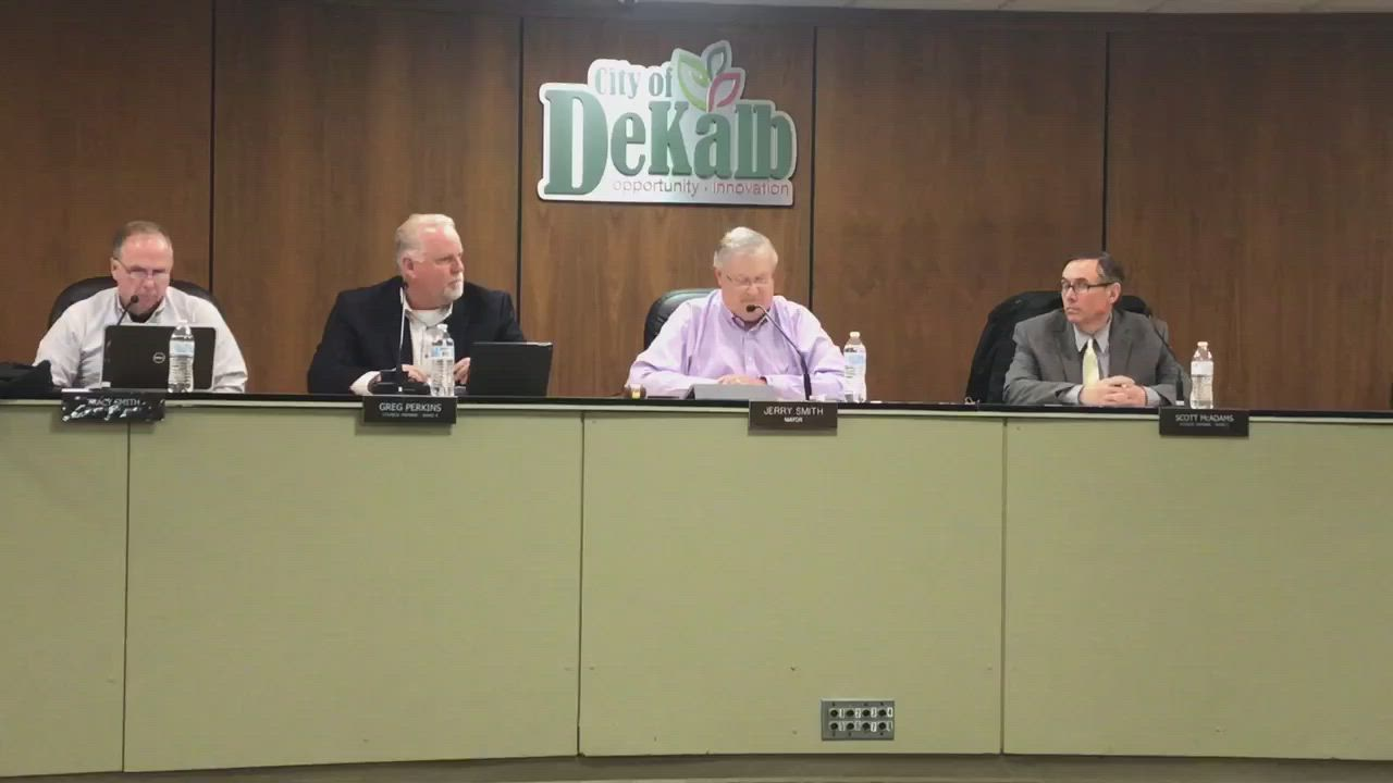 DeKalb Mayor Jerry Smith speaks about the coronavirus in the Monday, March 9, city council meeting. Smith said he's been in contact with DeKalb County Health Department administrator Lisa Gonzalez as well as Gov. J.B. Pritzker. There are no confirmed cases of COVID-19 in DeKalb County as of 4 p.m. Monday, Smith said.