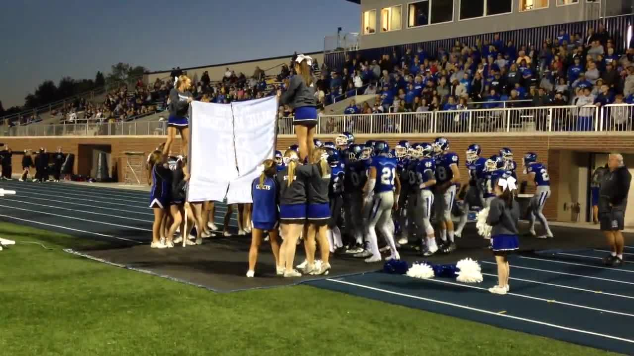 Comets enter at the start of Friday's game