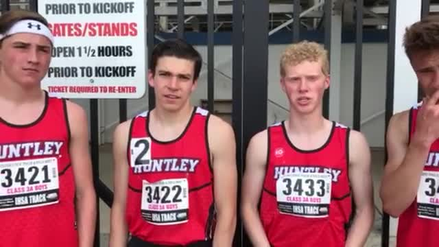 Jadon Conroy, Ian Geisler, Chris Simek and Jeremy Roe talk about qualifying at the IHSA Class 3A Boys T&F State Meet.