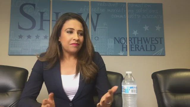 Attorney General candidate Erika Harold talks about the issues in this race