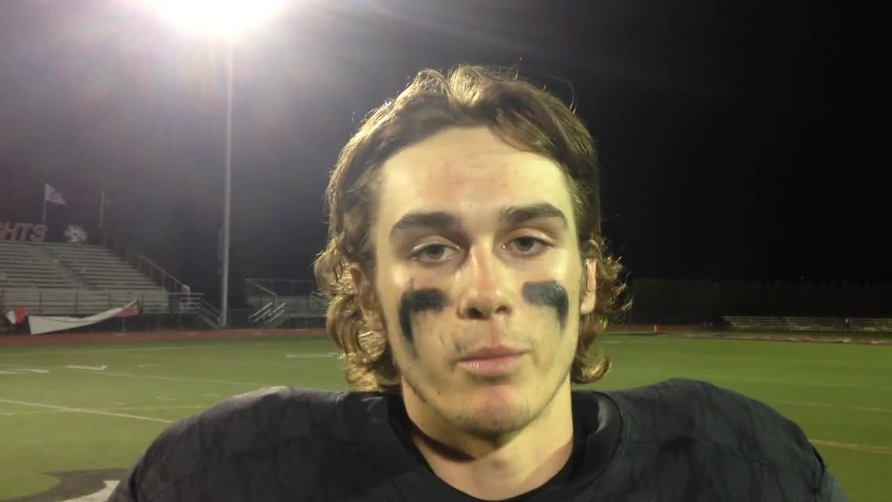 The Knights' Devin Smith discusses next week's meeting with Lincoln-Way East and the big win over Lockport.
