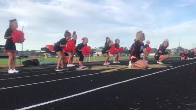 Members of Sandwich High School's Summer Cheer Camp entertained their families and spectators before the varsity football game Friday, Aug. 30.