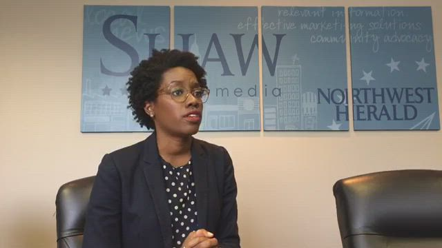 Lauren Underwood, 14th Congressional District Candidate, meets with the editorial board to answer questions about the upcoming election.