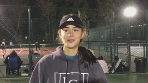 Ferru talks about her wins and advancing to the semifinals at the Class 1A Antioch Girls Tennis Sectionals.