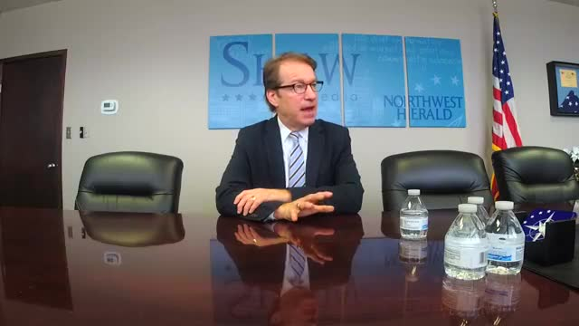 Rep. Peter Roskam visited with the Northwest Herald editorial board and reporters on Thursday, Feb. 22
