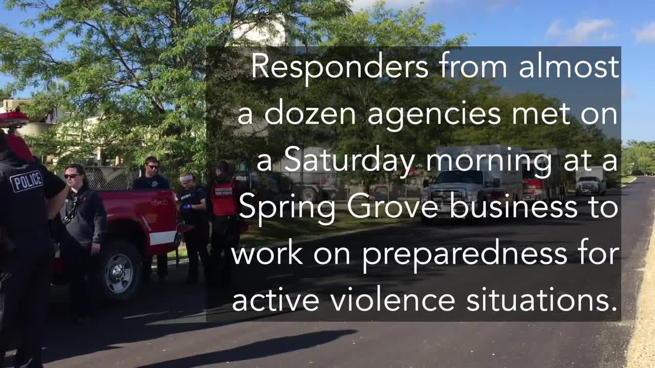 McHenry County agencies take part in an active shooter drill