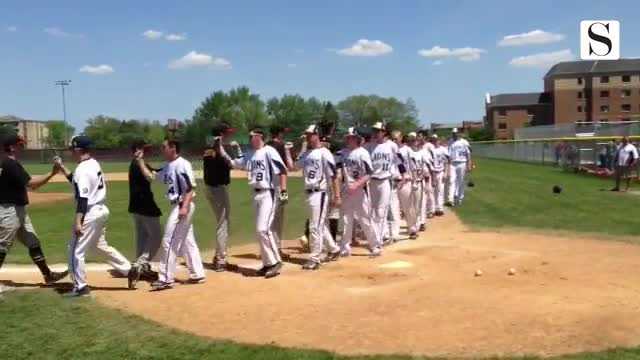 Westmont baseball wins regional title against Lisle 6-5.