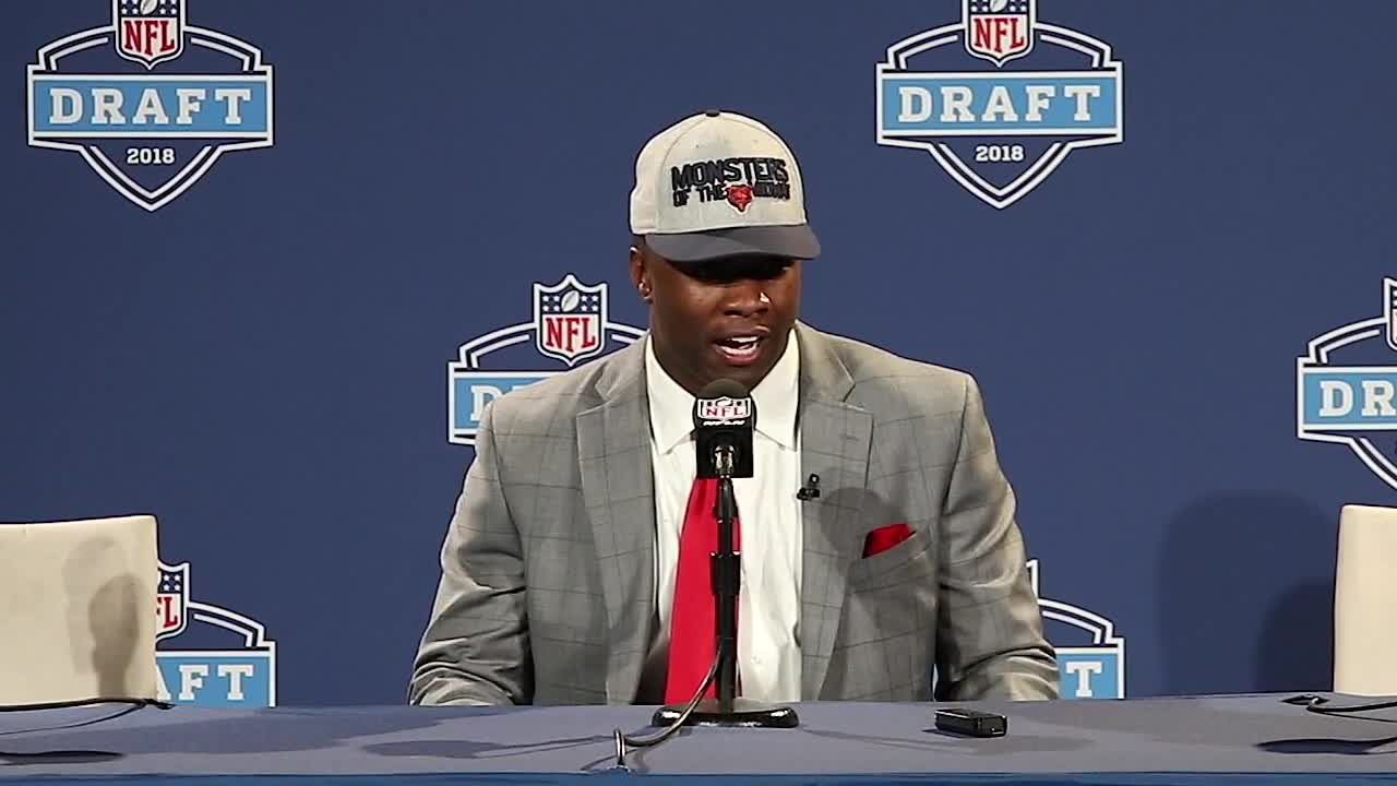 On Thursday, April 26, with the No. 8 pick overall in the 2018 NFL Draft, the Chicago Bears selected Georgia linebacker Roquan Smith. In Georgia inside linebacker Roquan Smith, the Bears' choice with the eighth overall pick in the draft, they're getting not only a sideline-to-sideline tackling machine with the agility to cover running backs and tight ends, they're getting a player with leadership qualities that extend beyond the field. Roquan Smith spoke with the media following his selection. For more draft coverage, keep it a profootballweekly.com.