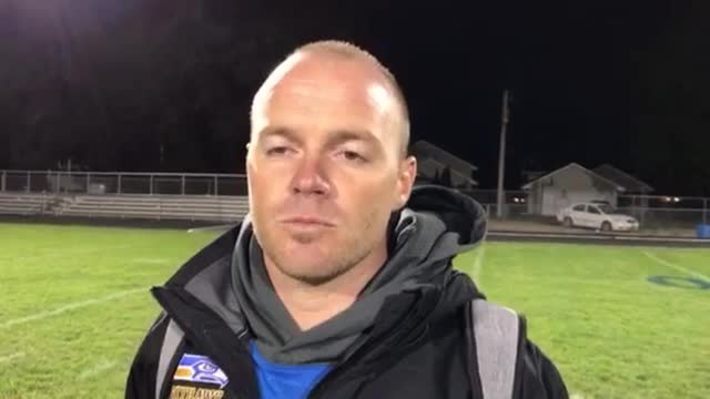 Lesniak talks about the Skyhawks' 51-17 KRC win over Woodstock.
