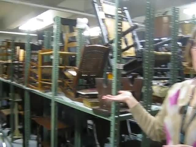 The Geneva History Museum Curator Jessica Strube details some of the collection found in the basement of the museum.
