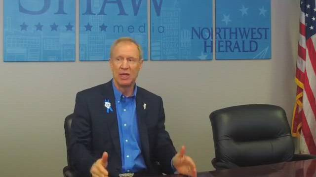 On Friday, Feb. 16, Illinois Gov. Bruce Rauner visited with the Northwest Herald editorial board and reporters to discuss a variety of issues