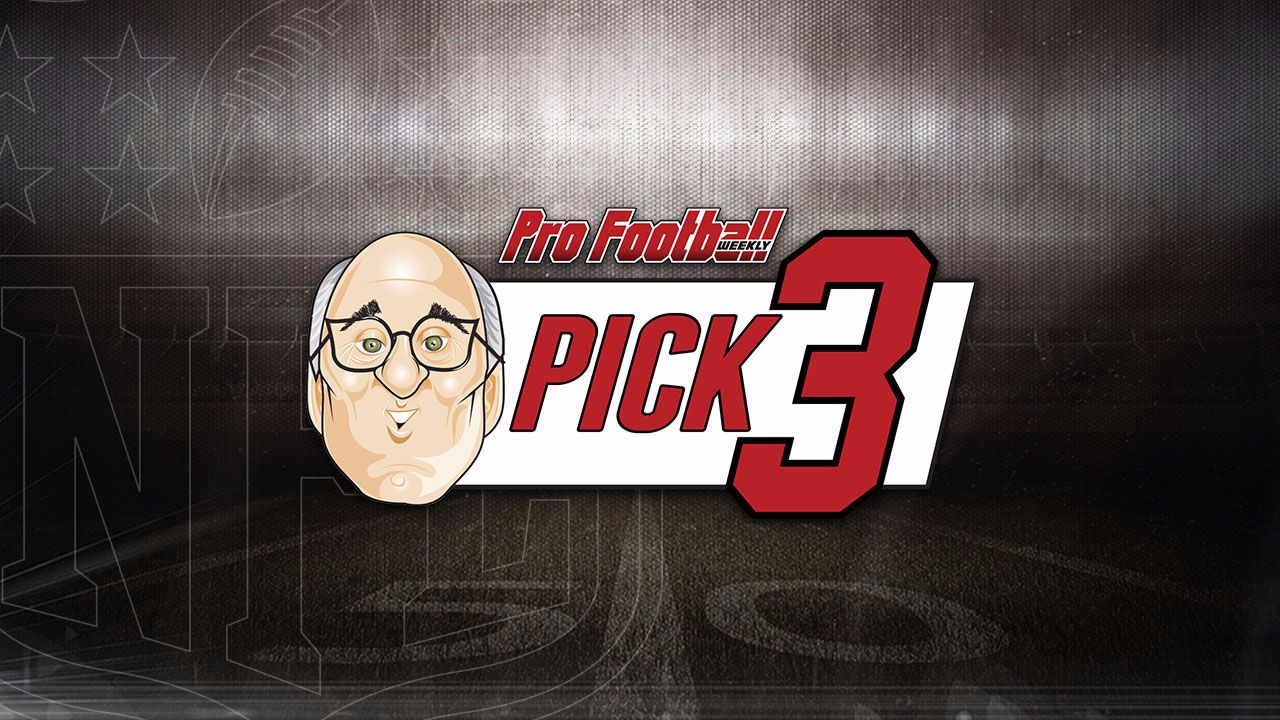 "Hub continues his winning record at 21-18 against the spread, with our Pro Football Weekly ""Pick 3!"" We continue the 1-2 train the past few weeks, but we think we have some winners for you this week! Each week Hub Arkush will choose 3 top match ups, and give you his pick for that game. This week features 49ers/Texans, Chiefs/Raiders, and Vikings/Panthers."