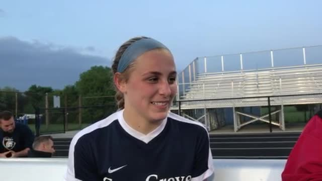 The Trojans' freshman talks about C-G's 4-0 win over Jacobs at the ‪Class 3A Guilford Girls Soccer Sectional‬.
