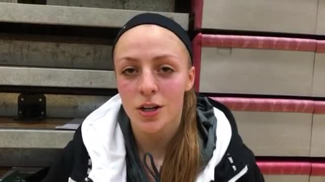 Garrelts talks about the Hurricanes' comeback in their 52-47 loss to Carmel in the 3A Northside Girls BB Regional.