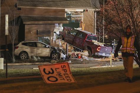 911 calls reveal the panic earlier this month when a pickup truck crashed into a Starbucks in McHenry.