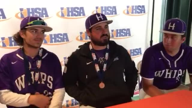 Hampshire coach Frank Simoncelli and his players talk about taking fourth place in the Class 4A State Tournament.