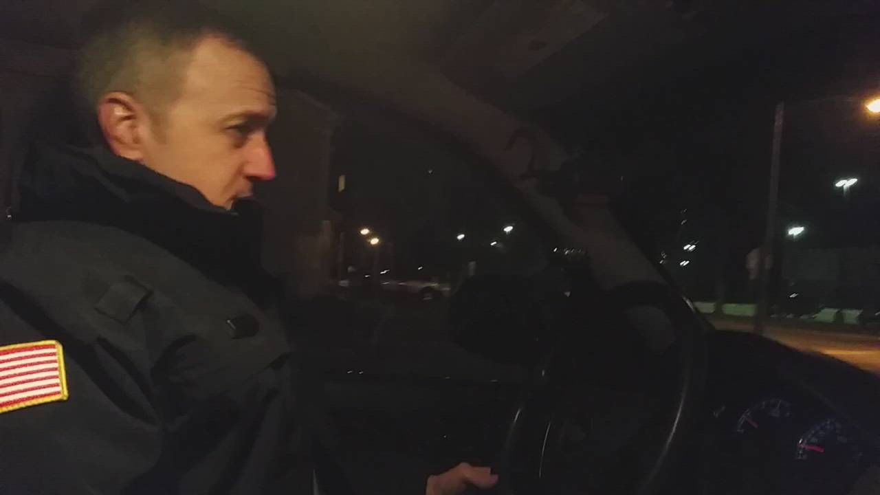 DeKalb Police Sgt. Chad McNett talks about life as a patrol officer while driving his route in the Annie Glidden North neighborhood.