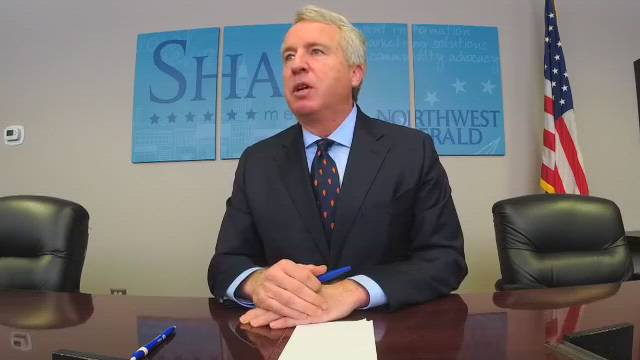 Chris Kennedy, Democratic candidate for Illinois Gov., visits the Northwest Herald on March 6, ahead of the March 20 primary