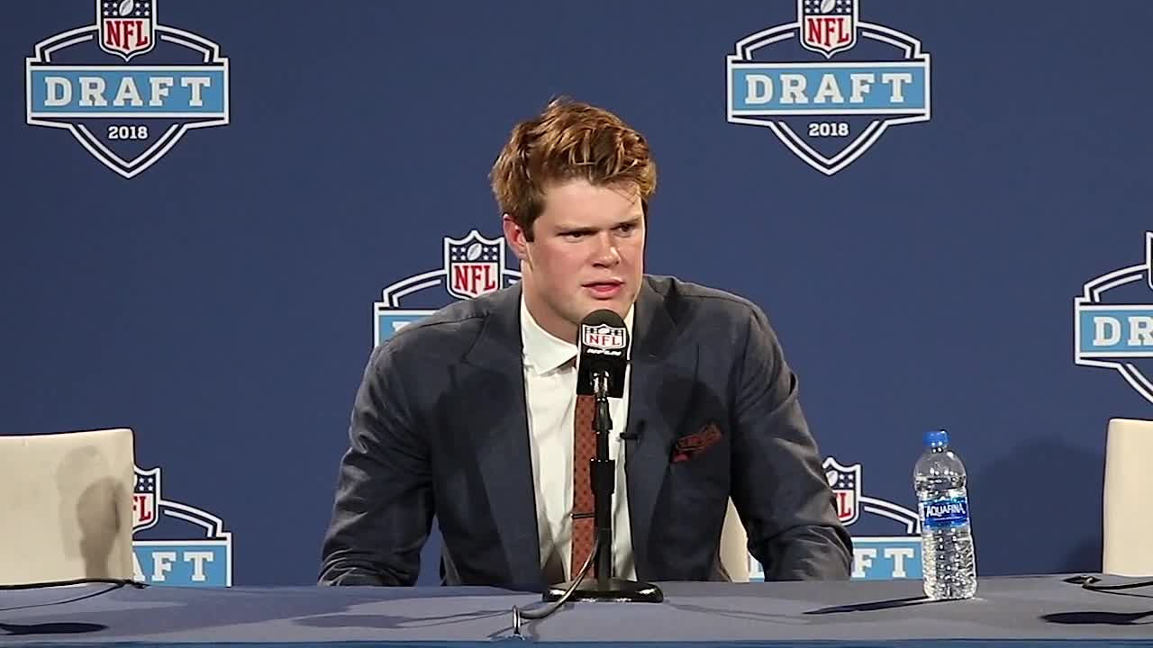 On Thursday, April 26, with the No. 3 pick overall in the 2018 NFL Draft, the New York Jets selected USC Quarterback Sam Darnold. Darnold is only 20 and was considered the No. 1 quarterback in the draft by many. He has the highest ceiling of any of the passers and the right stuff intangible-wise to survive the New York market. Sam Darnold spoke with the media following his selection. For more draft coverage, keep it a profootballweekly.com.
