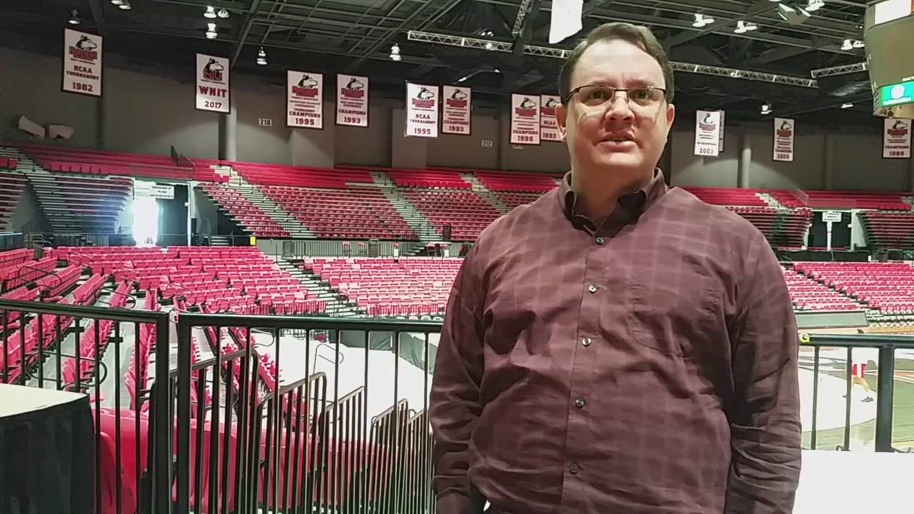 Joe Cheney, senior associate athletic director at NIU, talks about the Convocation Center and the university's plan to sell its naming rights.