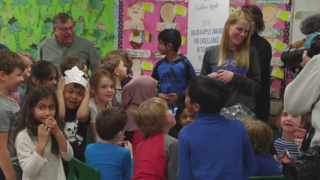 Lisa Buchholz, a first-grade teacher at Glen Ellyn School District 41's Abraham Lincoln Elementary School, was one of 10 teachers from across the area to receive a Golden Apple award, which honors excellence in teaching.