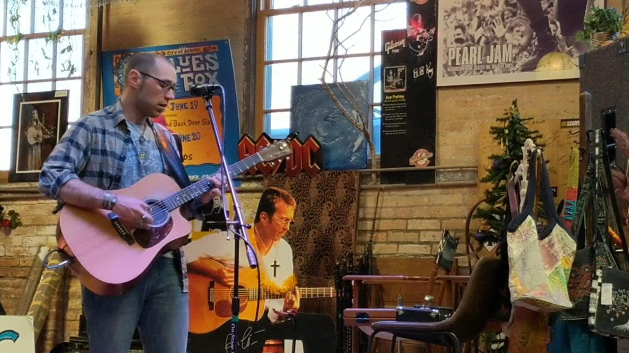 Area musician Noah Gabriel performs April 13 as part of Record Store Day activities at Kiss the Sky record store in Batavia. Record Store Day celebrates the culture surrounding independent record stores nationwide.