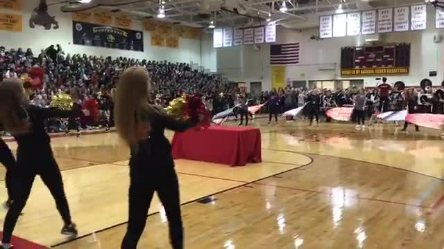 Batavia High School held a pep assembly in honor of the state champion football team