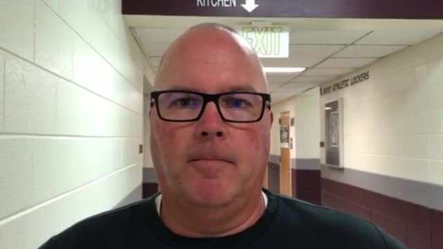 Schremp talks about the Wolves' 35-28 loss to Huntley.