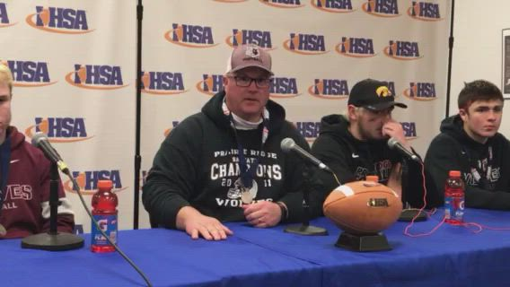 Wolves coach Chris Schremp and his players talk about their 6A title game loss to East St. Louis.