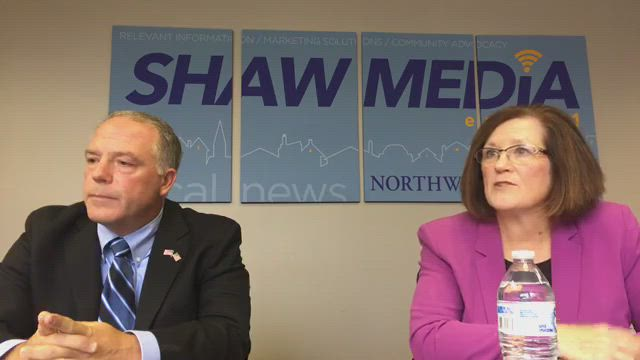 32nd Senate District candidates Craig Wilcox and Mary Mahady speak with the Northwest Herald Editorial Board.